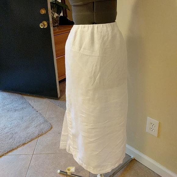 f84a6aa70 J. Jill Dresses & Skirts - Pure Jill White Linen Skirt Slits on Sides PM